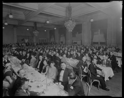 Luncheon (formal dress, flags)