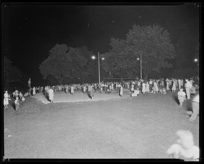 Dance (square? folk?) held on football field