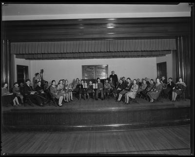 Photo of high school orchestra on-stage