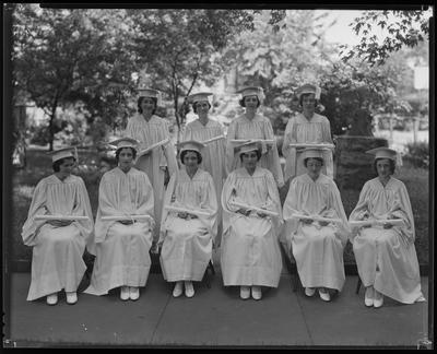 Nurses in robes