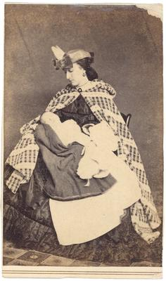 Julia Jeffrey Porter (1839-?) with unidentified infant; same as #16