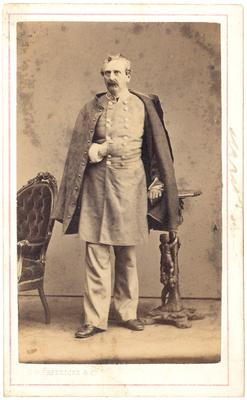 Brigadier General William Preston (1816-1887), C.S.A.; Lexington, KY native; in uniform; back of the image notes in ink: