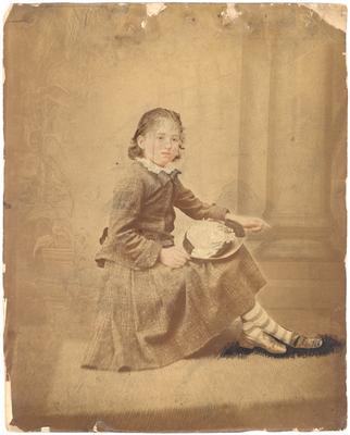 Virginia Abercrombie Jeffrey (?-1934) (aka Virginia Jeffrey Morgan); written in ink on back: