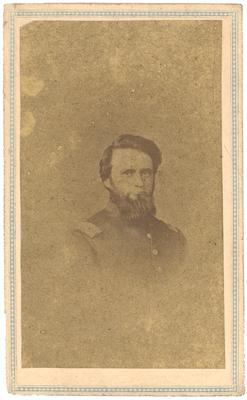 Captain Henry S. Parrish (?-?) U.S.A.; 20th Kentucky Volunteer Infantry, Company A; written in pencil on the back