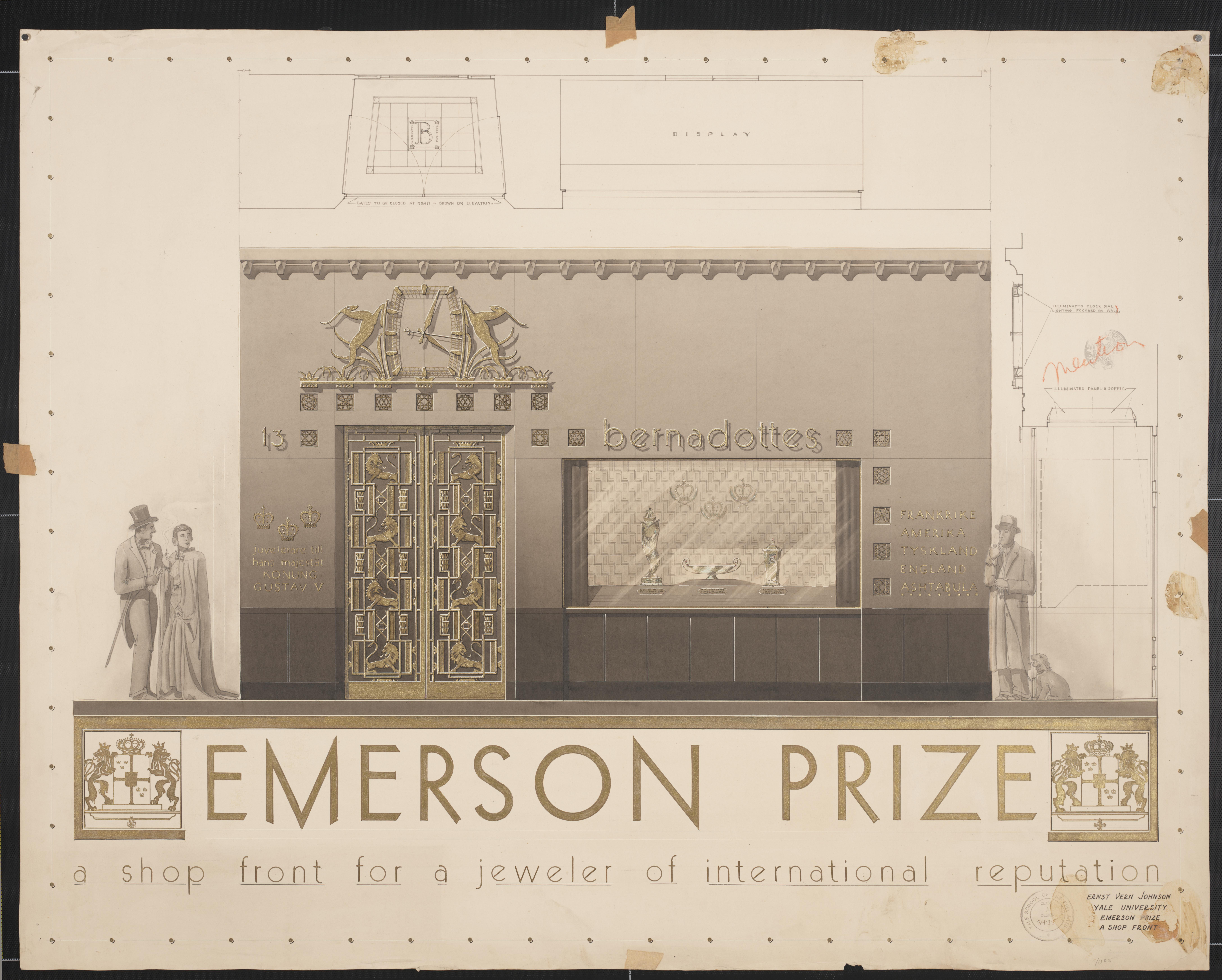 Ernst Johnson Student Drawings