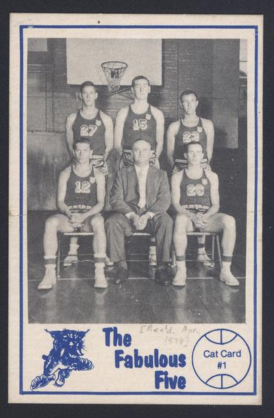 Cat Card #1: Rupp and the Fabulous Five, front