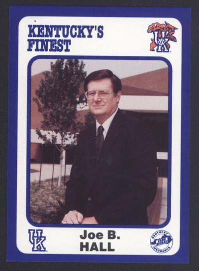 Kentucky's Finest #30: Joe B. Hall (1973-85), front