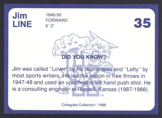 Kentucky's Finest #35: Jim Line (1945-48), back