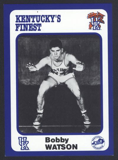 Kentucky's Finest #36: Bobby Watson (1949-52), front