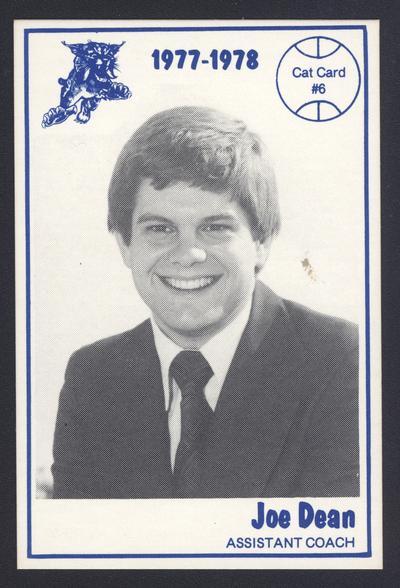 Cat Card #6: Joe Dean, assistant coach, front