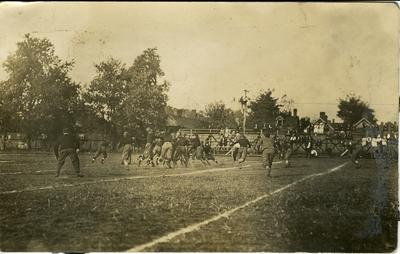 Football game circa 1912