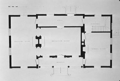 Thomas Carneal House (Elmwood Hall) - Note on slide: First floor plan