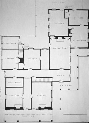 J. L. Bledsoe Albertt House - Note on slide: Plan