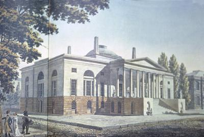 Bank of Pennsylvania - Note on slide: Engraving after George Strickland drawing