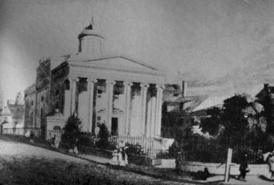 Royal High School on Calton Hill - Note on slide: Monsaunt Crook / Greek Revival