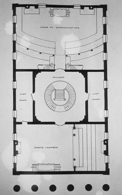 Old State House (Old State Capitol Building) - Note on slide: Second floor plan