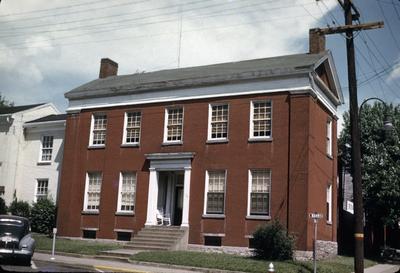 Augustus Hall House - Note on slide: Barr Street at Walnut