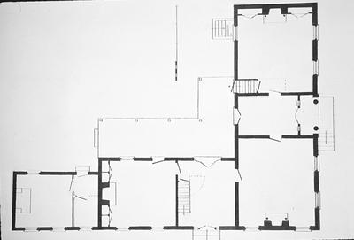 Taylor House (Mansion Museum) - Note on slide: First floor plan restored