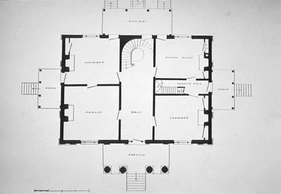 William G. Craig House - Note on slide: First floor plan