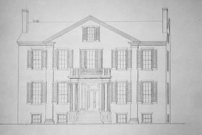 Bayles - Oldham House - Note on slide: Sketch