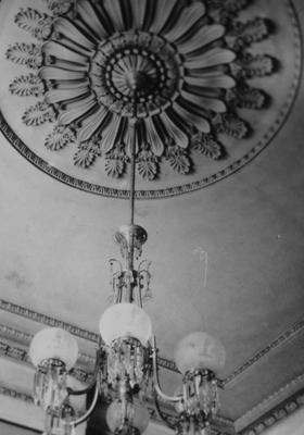 Ward Hall - Note on slide: Hall Parlor Chandelier