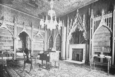 Strawberry Hill - Note on slide: Library