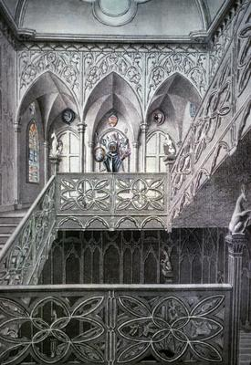 Strawberry Hill - Note on slide: Stairhall