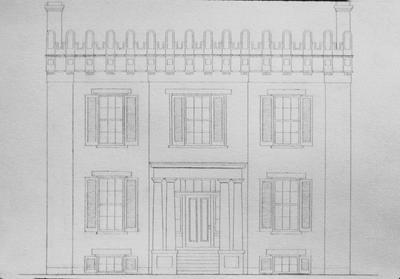 Bayles - Beck House - Note on slide: Restored elevation. East High