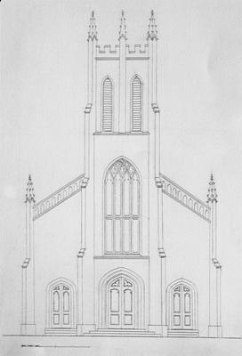 Christ Church - Note on slide: Restored elevation