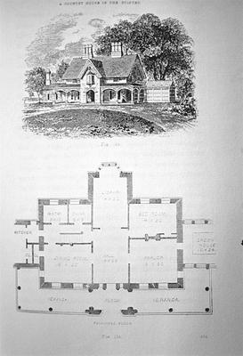 Design XXV - Note on slide: A. J. Downing / Country Houses