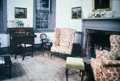 Hurricane Hall - Note on slide: Living room. Southern Accents, Spring 1982