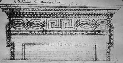 Entablature for Chimney Piece - Note on slide: Builder's Print Treasure