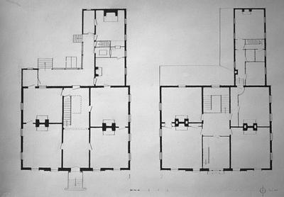 Liberty Hall - Note on slide: Floor plans early 1930s