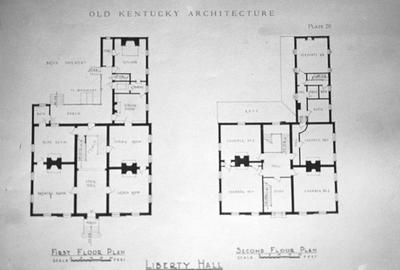 Liberty Hall - Note on slide: Newcomb / Architecture of Old Kentucky