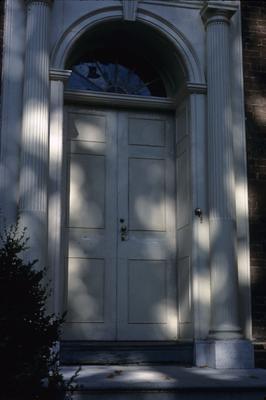 Liberty Hall - Note on slide: Doorway with restored doors