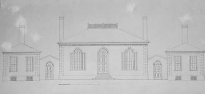 William Morton House - Note on slide: Restored elevation