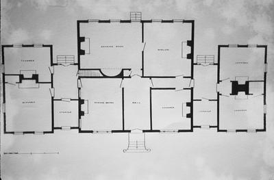 William Morton House - Note on slide: Floor plan