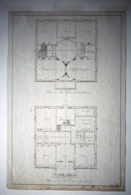 John Pope House - Note on slide: Floor plans. Latrobe's drawings. Library of Congress. Bill Scott Slide