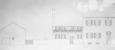 John Wesley Hunt House (Hunt - Morgan House) - Note on slide: Mill at Second Street. Restored south side