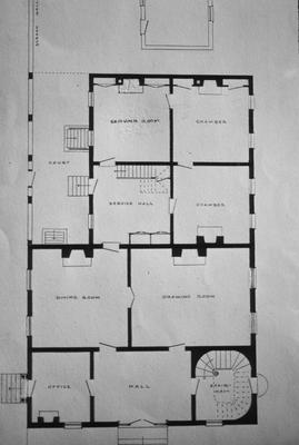 John Wesley Hunt House (Hunt - Morgan House) - Note on slide: First floor plan