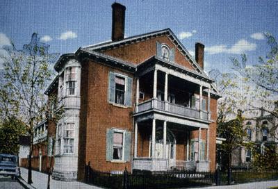 John Wesley Hunt House (Hunt - Morgan House) - Note on slide: Old postcard