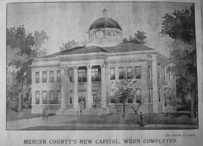 Third Courthouse - Note on slide: W.W. Stephenson scrap book. Harrodsburg Historical Society