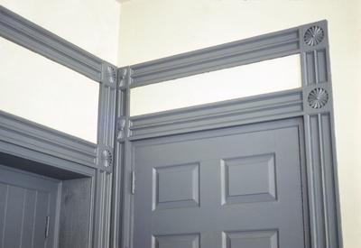 Warwick - Note on slide: Door heads north east corner drawing room