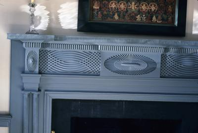 Warwick - Note on slide: Drawing room mantel detail