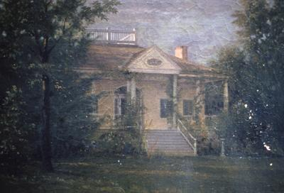 Repton Norbourne Alexander Colt House - Note on slide: Muddy Fork of Beargrass Creek From south west Thomas side. Painting owned by Mrs. Rose Wilson