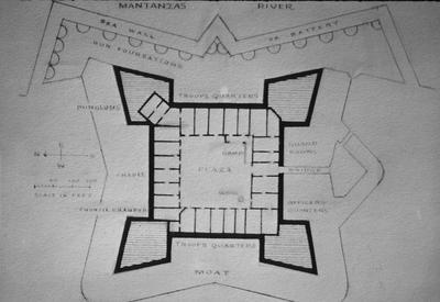 Castille de San Marcos - Note on slide: Plan