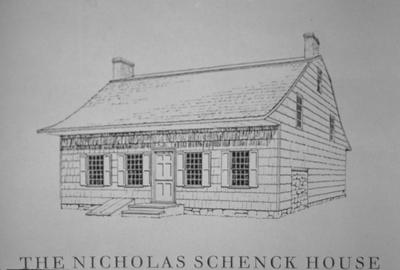 Nicholas Schenk House - Note on slide: Brooklyn Museum