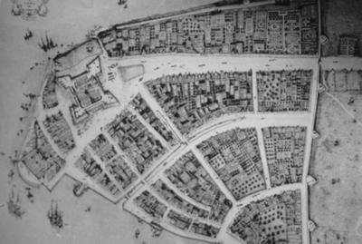 Redraft of Castellu Plan New Amsterdam - Note on slide: Beschrijuinghe van Virginia, Nieuw Nederlant