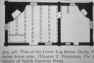 Plan of the Lower Log House
