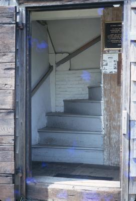 Jethro Coffin House - Note on slide: Winder stairs
